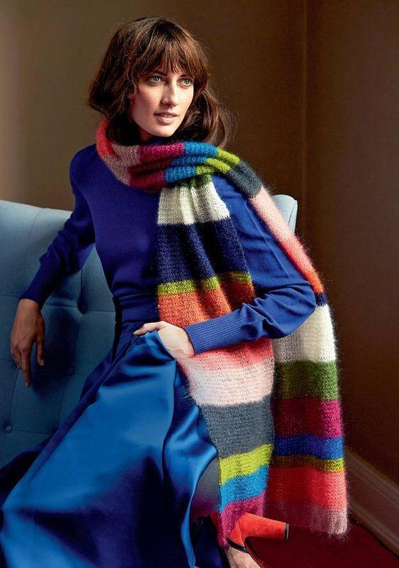 Las Bufandas más modernas hechas con lana